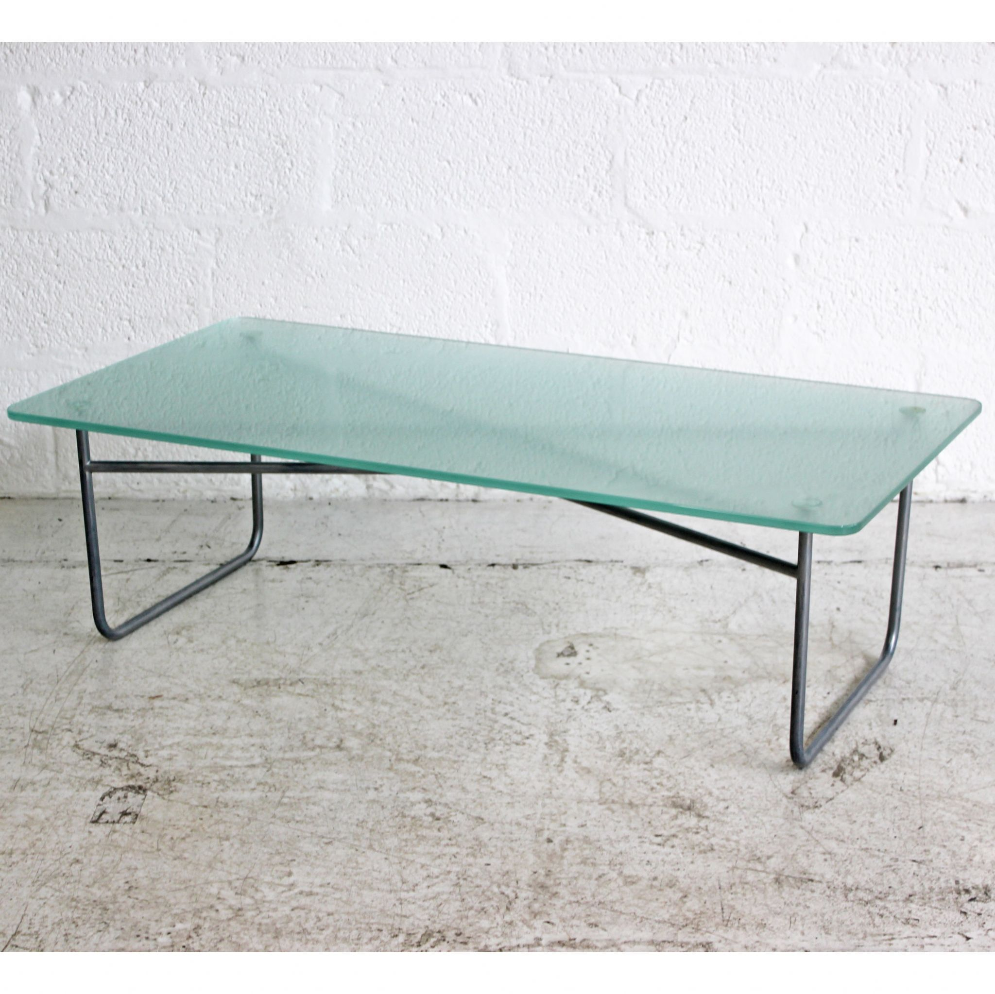 Rectangular Frosted Glass Coffee Table Glass Coffee Table Low